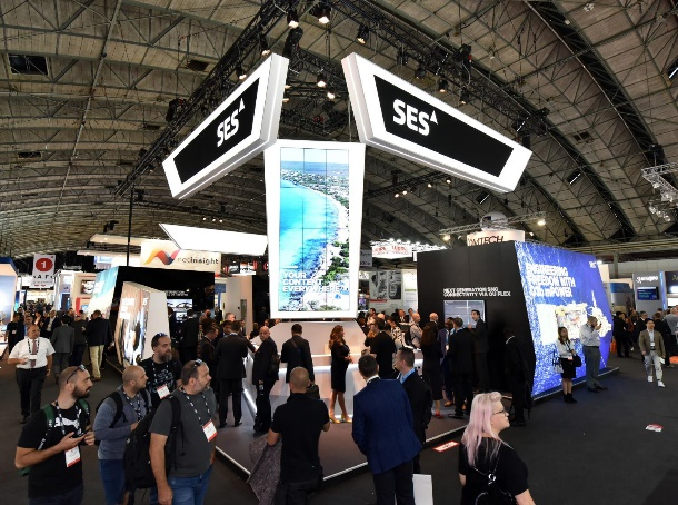 SES Stand at IBC 2019