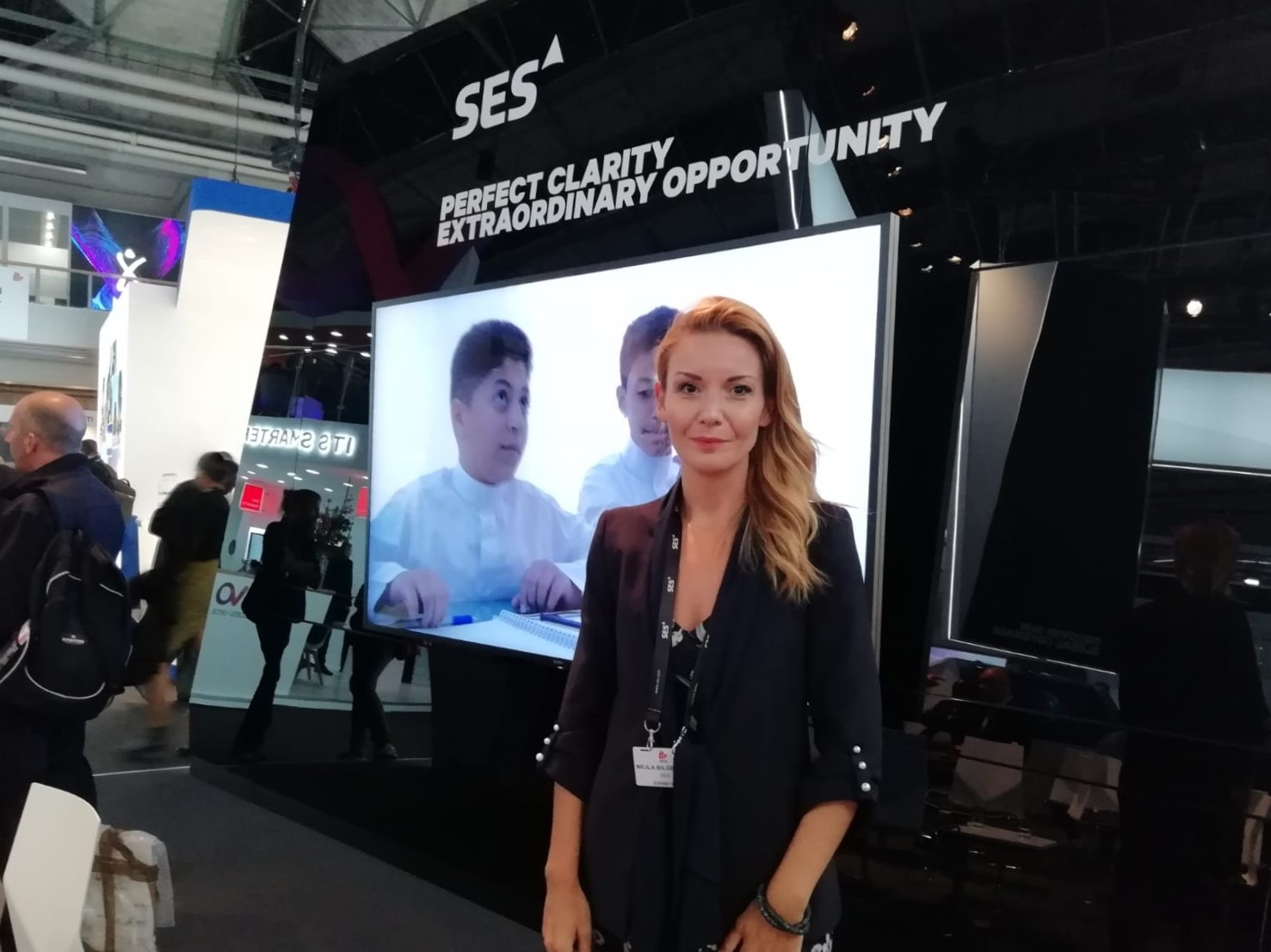 Ms Bilge Atila, SES, at IBC 2018