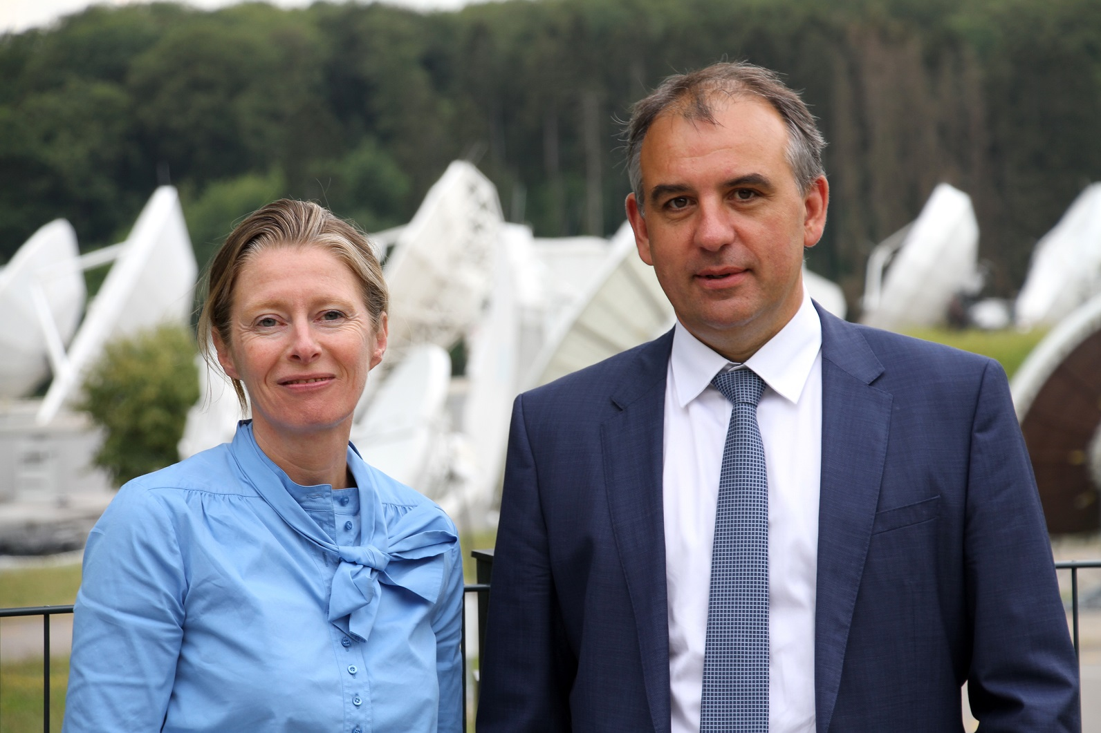 Corinne Mailles Deputy General Manager Telespazio France & Patrick Biewer, CEO GovSat