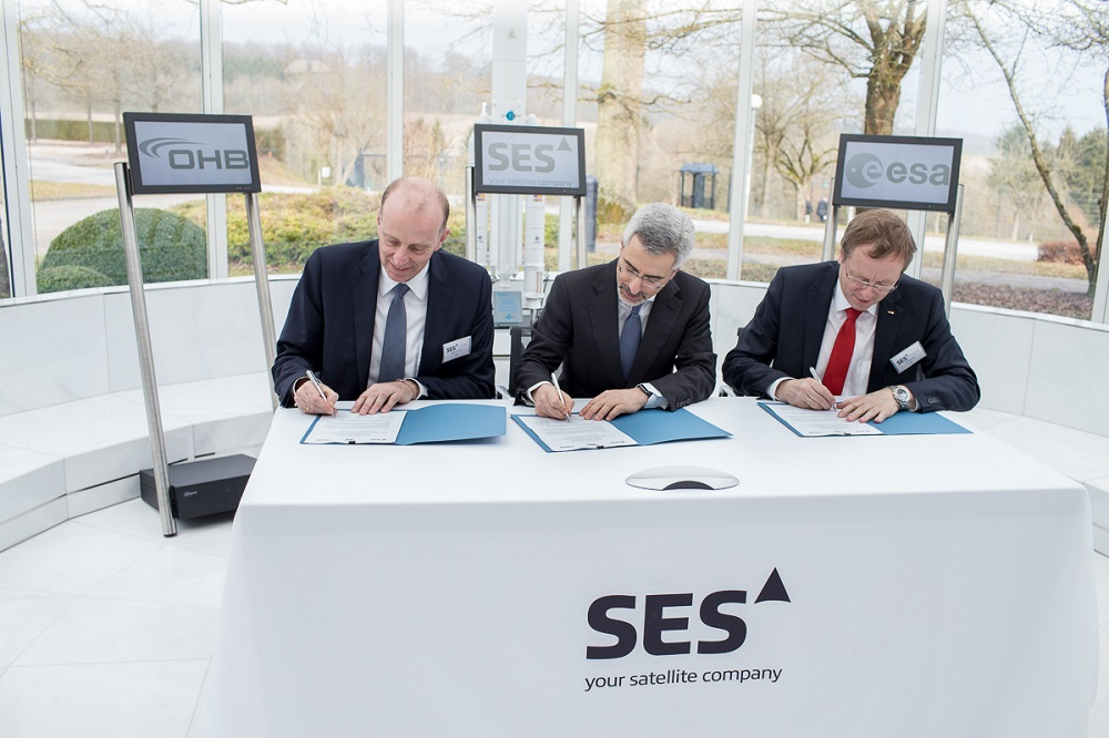 Ceo SES signs contract with ESA and OHB